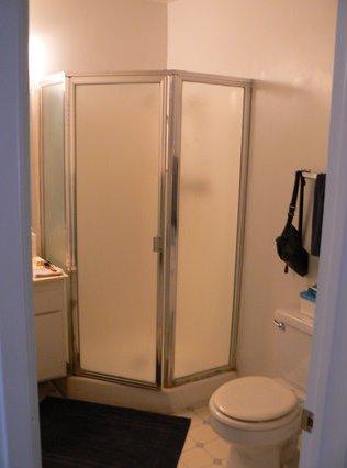 O banheiro.