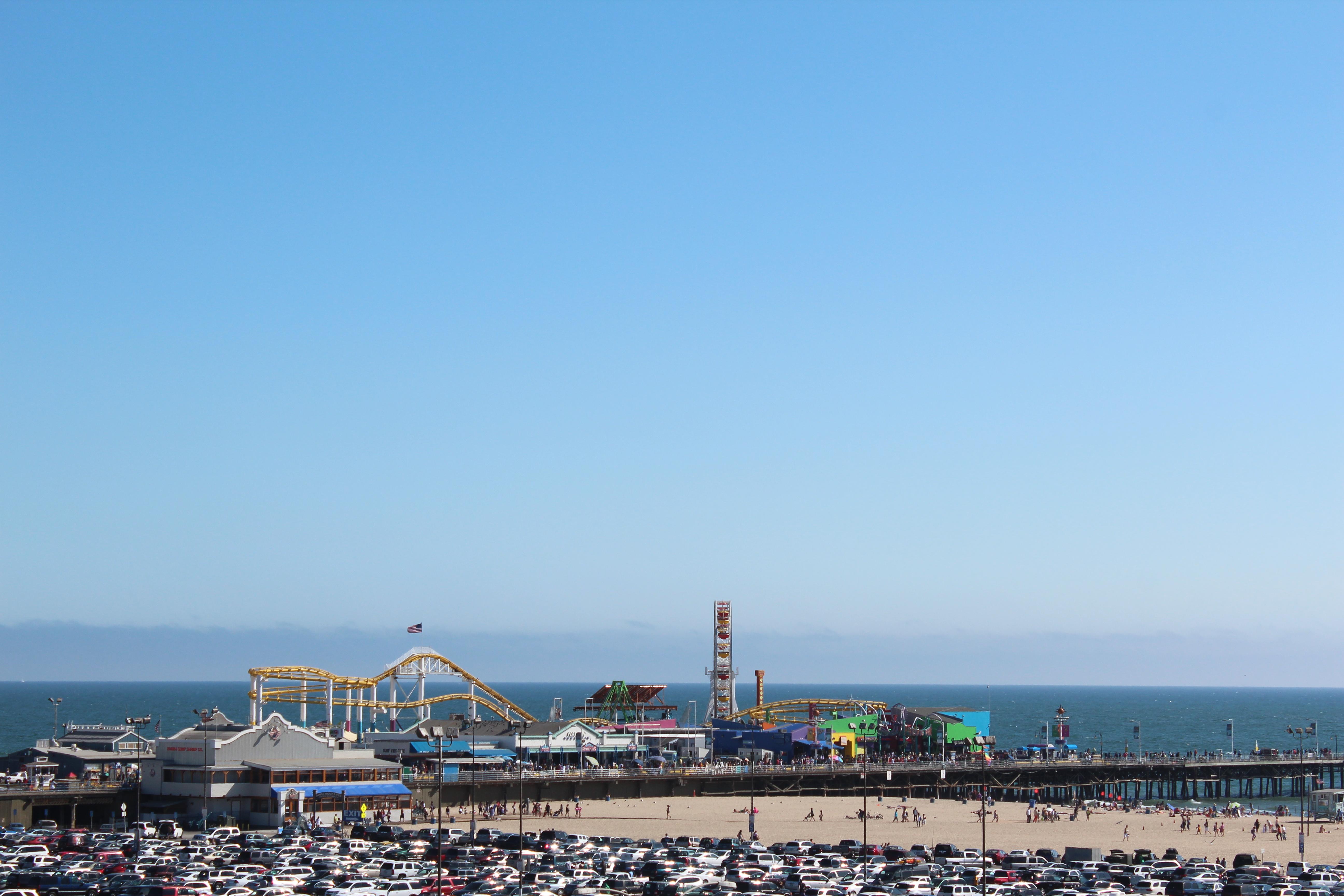 A vista do pier.