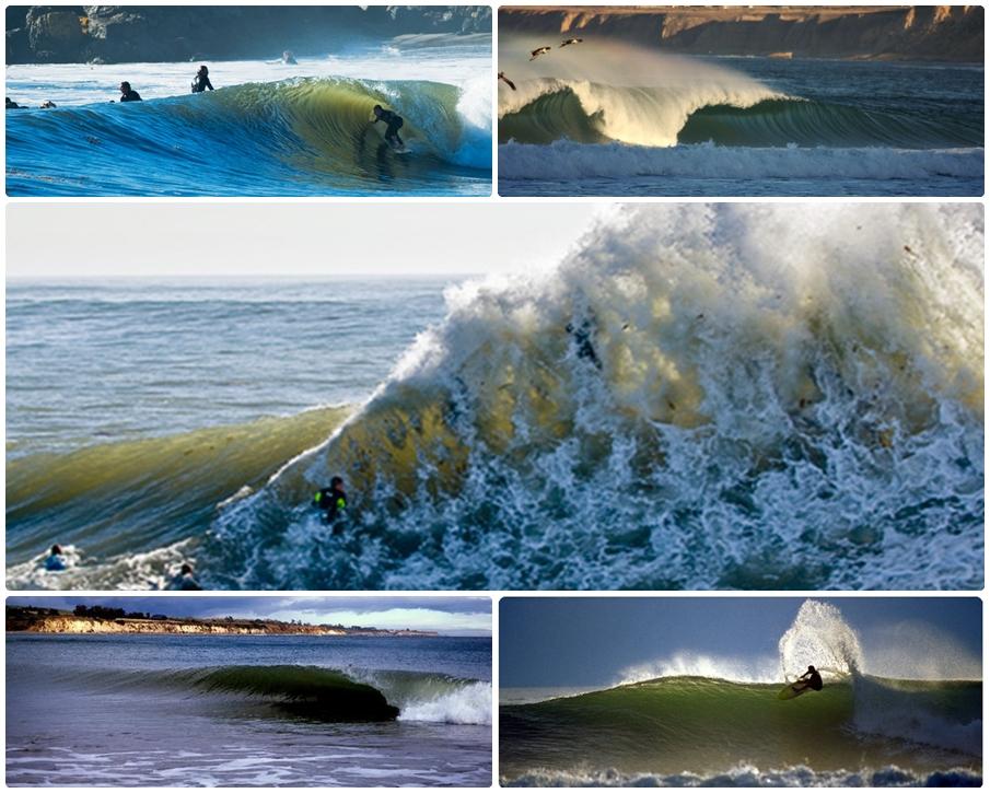 Altas ondas em Santa Barbara.