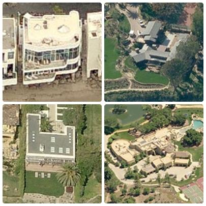 Casas dos famosos em Malibu: Halle Berry, Julia Roberts, Leonardo di Caprio e Will Smith.